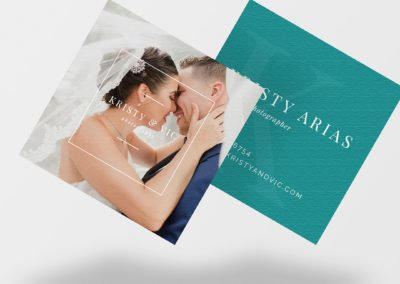 Elegant Wedding Branding | Kristy and Vic Photography